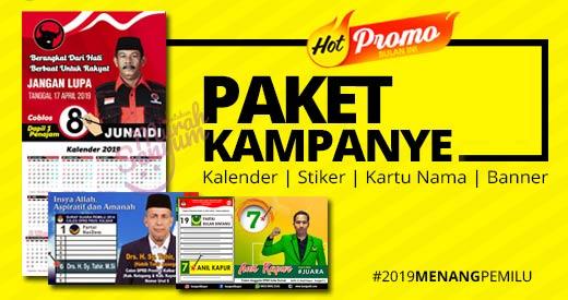 cetak alat peraga kampanye