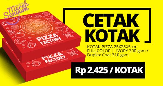 cetak kemasan kotak dus pizza murah